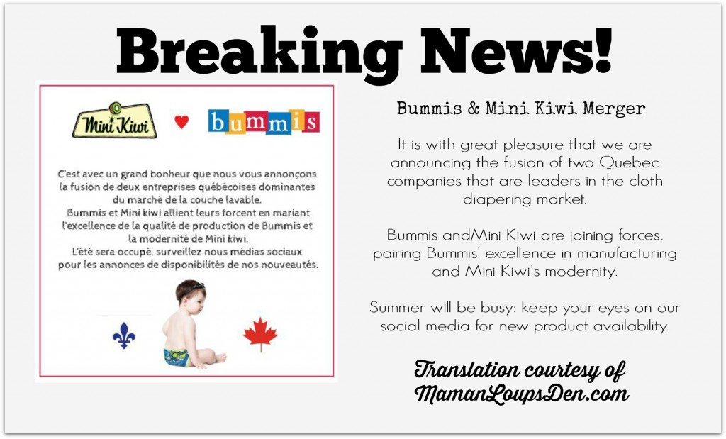 Bummis & Mini Kiwi Announce a Merger!