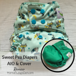 Sweet Pea Cloth Diapers One-Size All-in-One and Diaper Cover Review