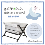 Guzzie & Guss Habitat Playard Review: A Bassinet and Playpen in One! ~ Maman Loup's Den