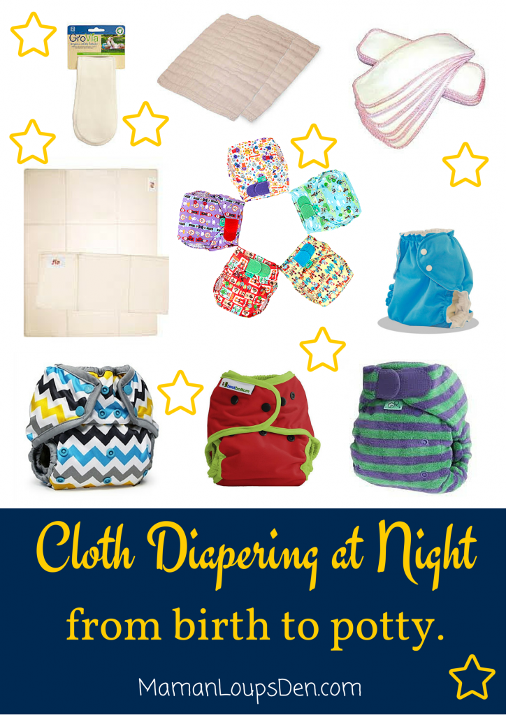 Cloth Diapering at Night from Birth to Potty ~ Maman Loup's Den