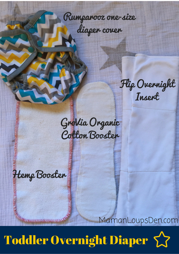 Cloth Diapering at Night ~ Toddler