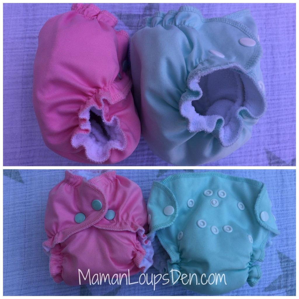 Easy Peasies Newborn Diapers Side by Side