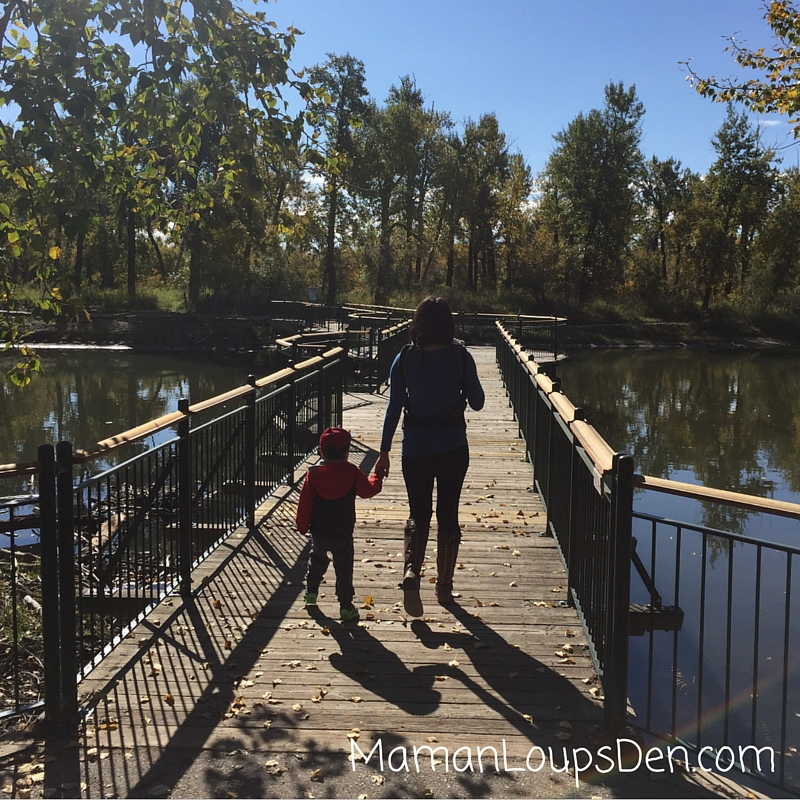Liliputi Soft Baby Carrier Review ~ Maman Loup's Den ~ Hands free for hand holding