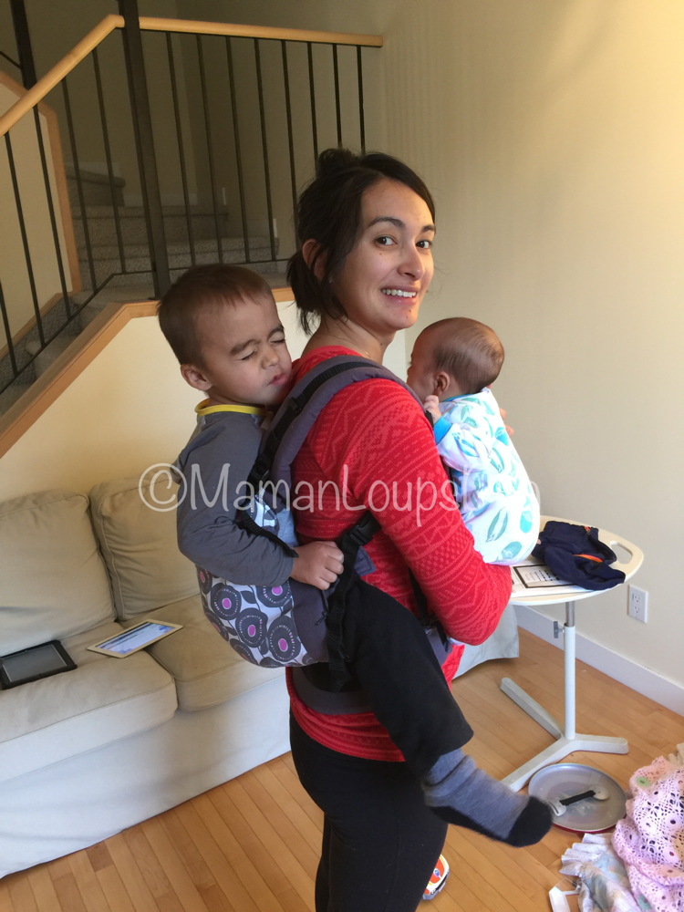 Liliputi Baby Carrier Review ~ Maman Loup's Den ~ Toddler Carry side view
