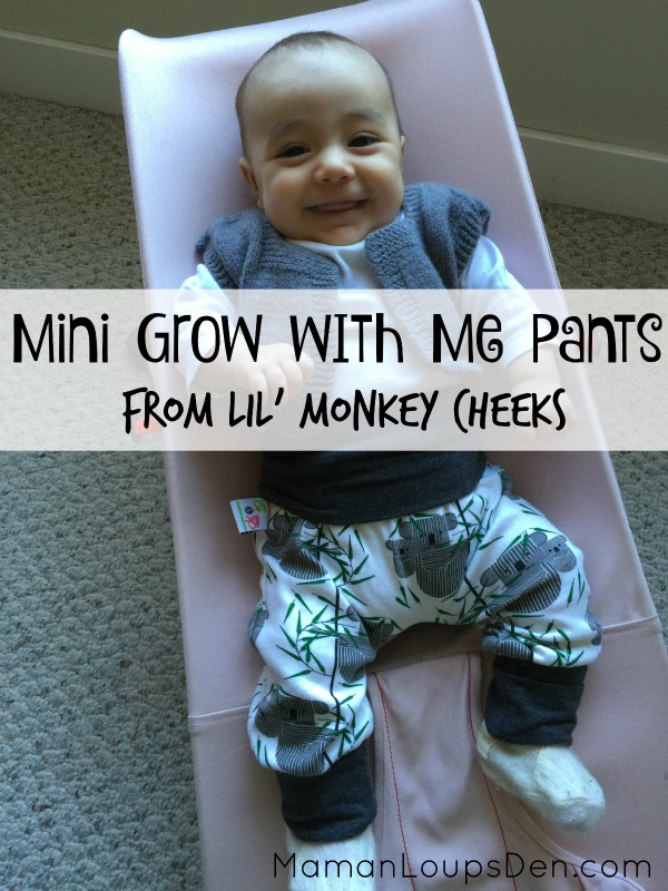 Mini Grow With Me Pants Review from Lil' Monkey Cheeks ~ Maman Loup's Den