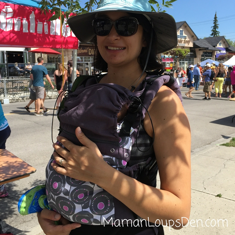 Our first outing wiht our Liliputi Soft Baby Carrier ~ Maman Loup's Den