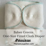 Babee Greens One-Size Fitted Diaper Review