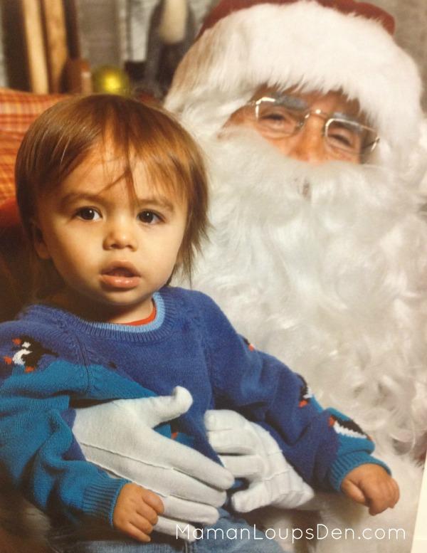 Cub with Santa