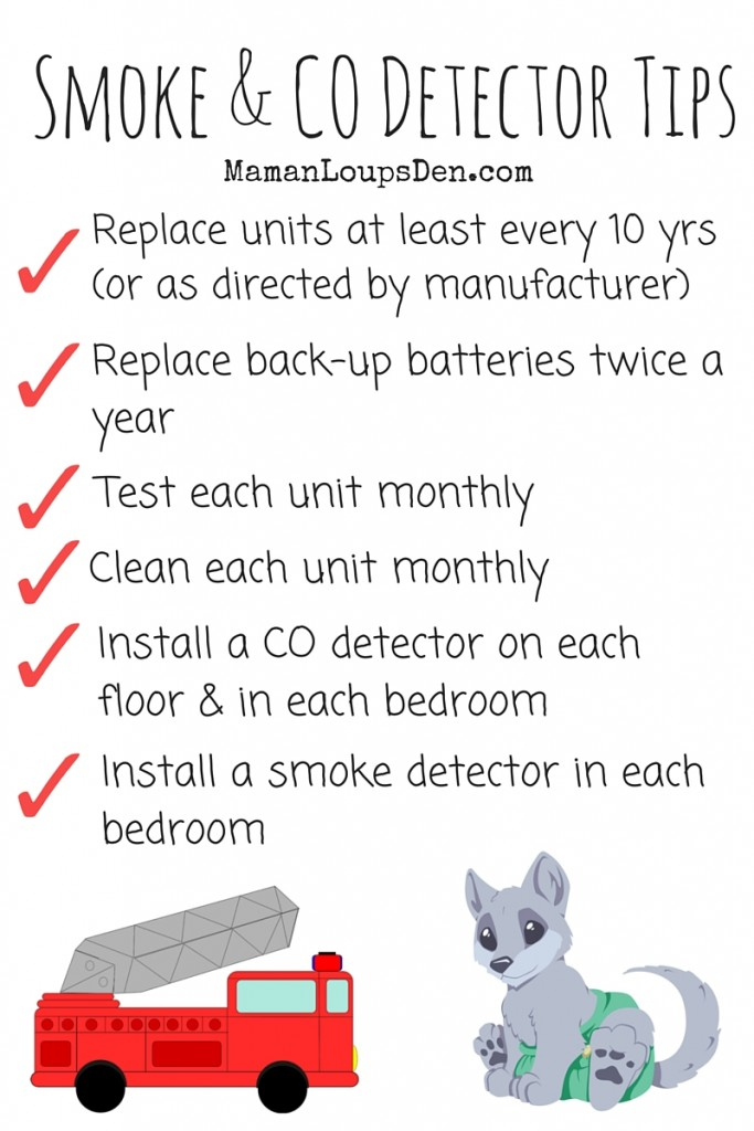 Smoke & Carbon Monoxide Detector Tips - Maman Loup's Den