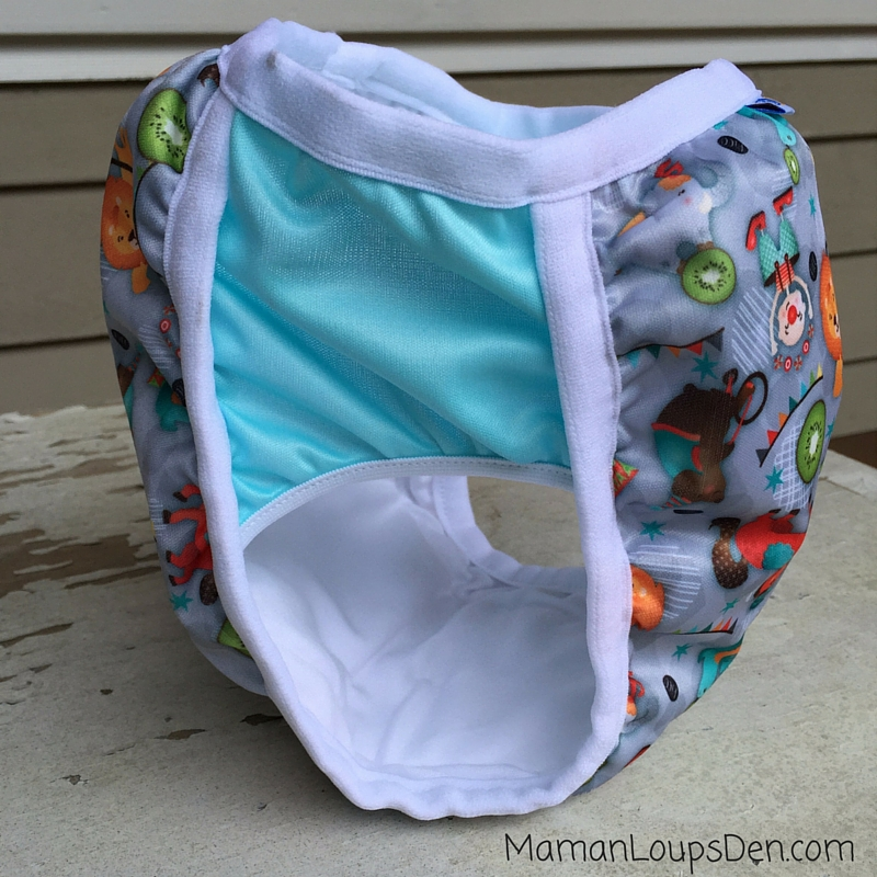 Bummis Potty Pant Review ~ Maman Loup's Den ~ Side View