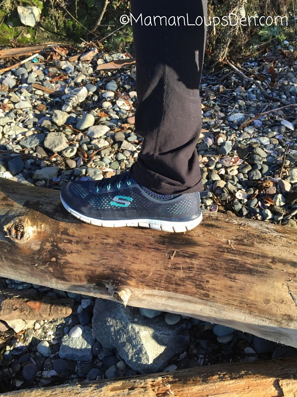 Skechers Memory Foam His and Hers Review ~ Maman Loup's Den ~ Balance Beam