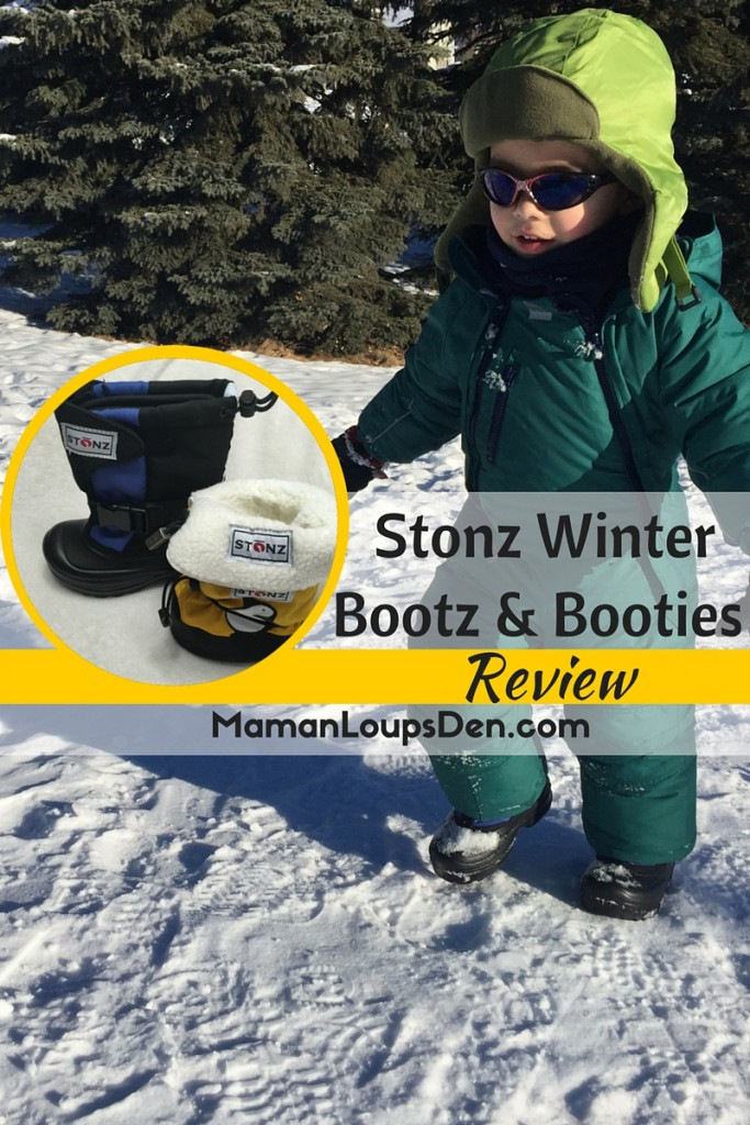 Stonz Winter Bootz and Booties Review - Maman Loup's Den