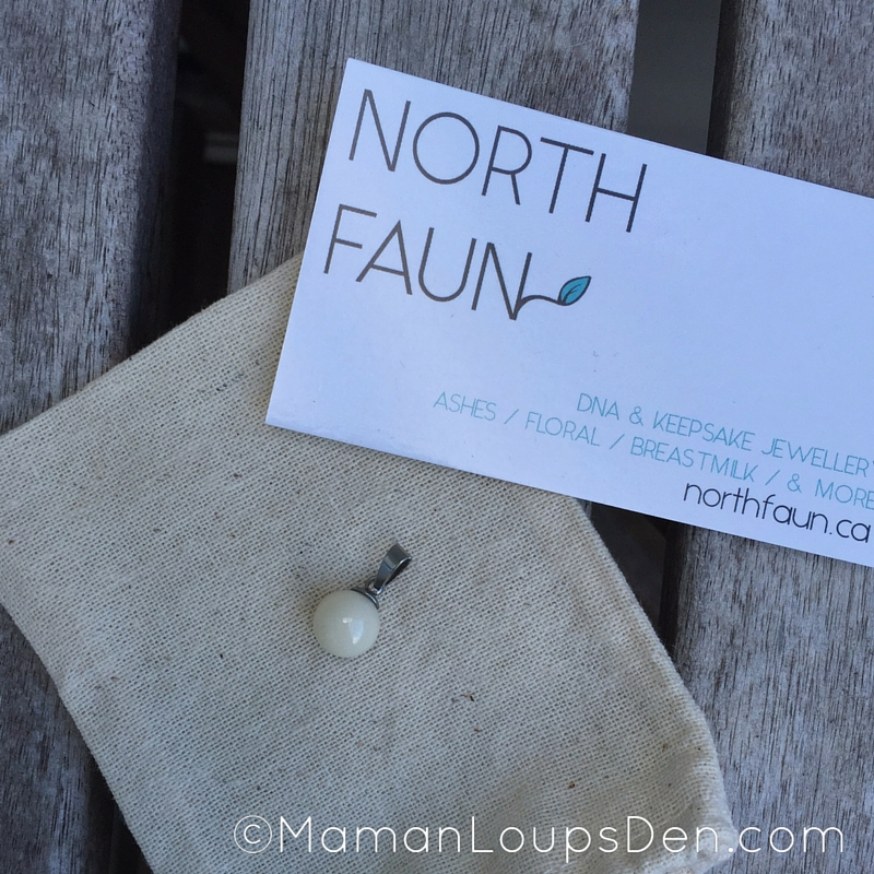 North Faun Breast Milk Pearl on display