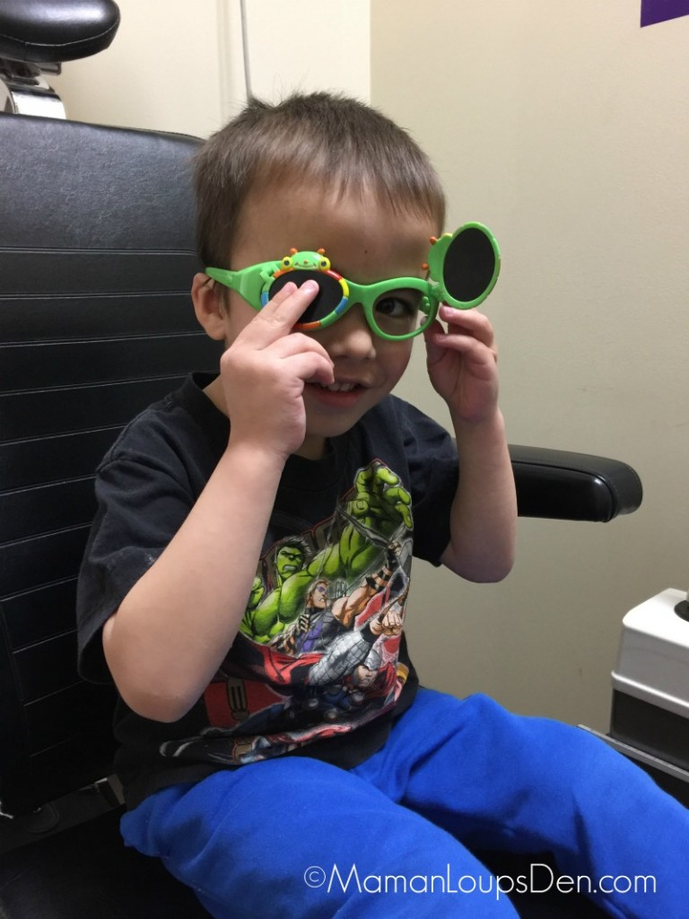 Cub goes to the eye doctor