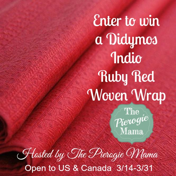 Win a Didymos Indio Ruby Red Woven Wrap