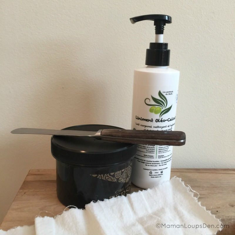 Post-wax treatment with Liniment