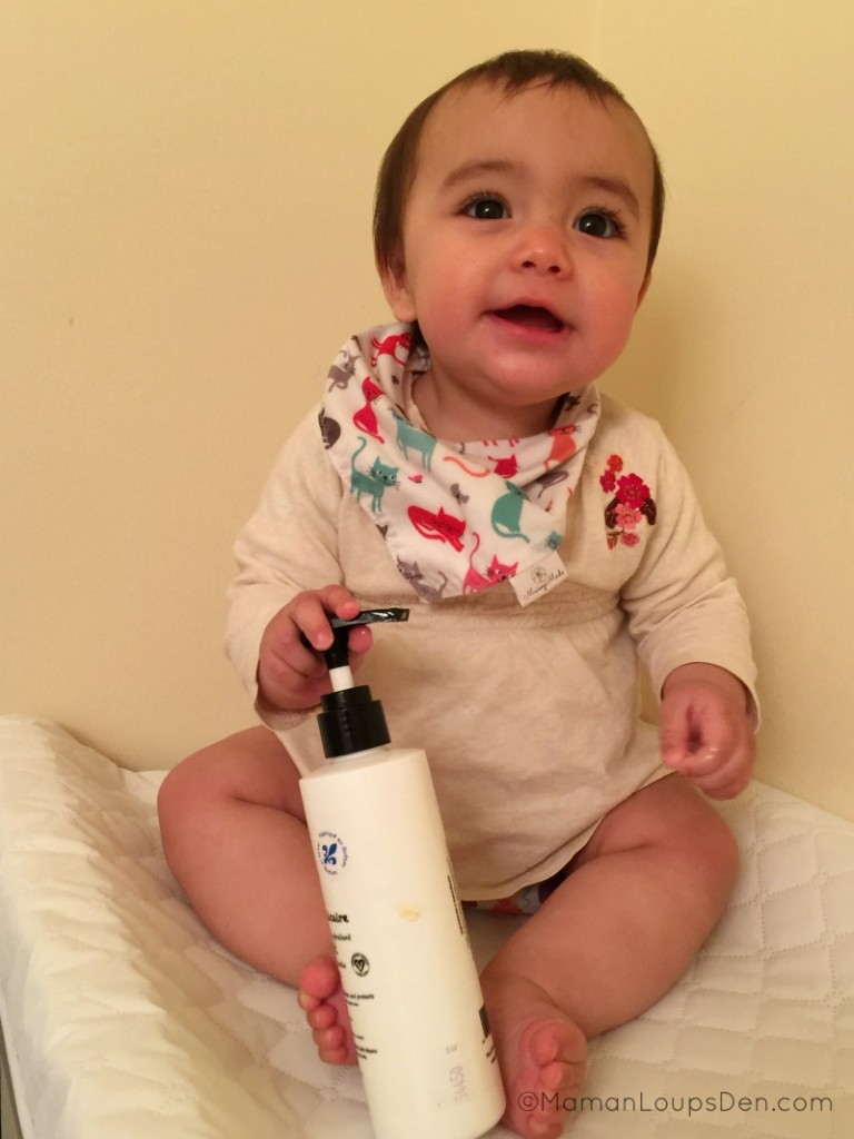 Litte Miss with her liniment