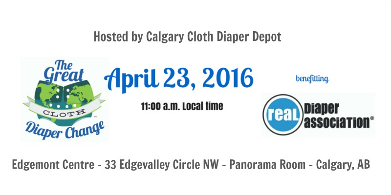 Calgary Great Cloth Diaper Change 2016 #GCDC2016