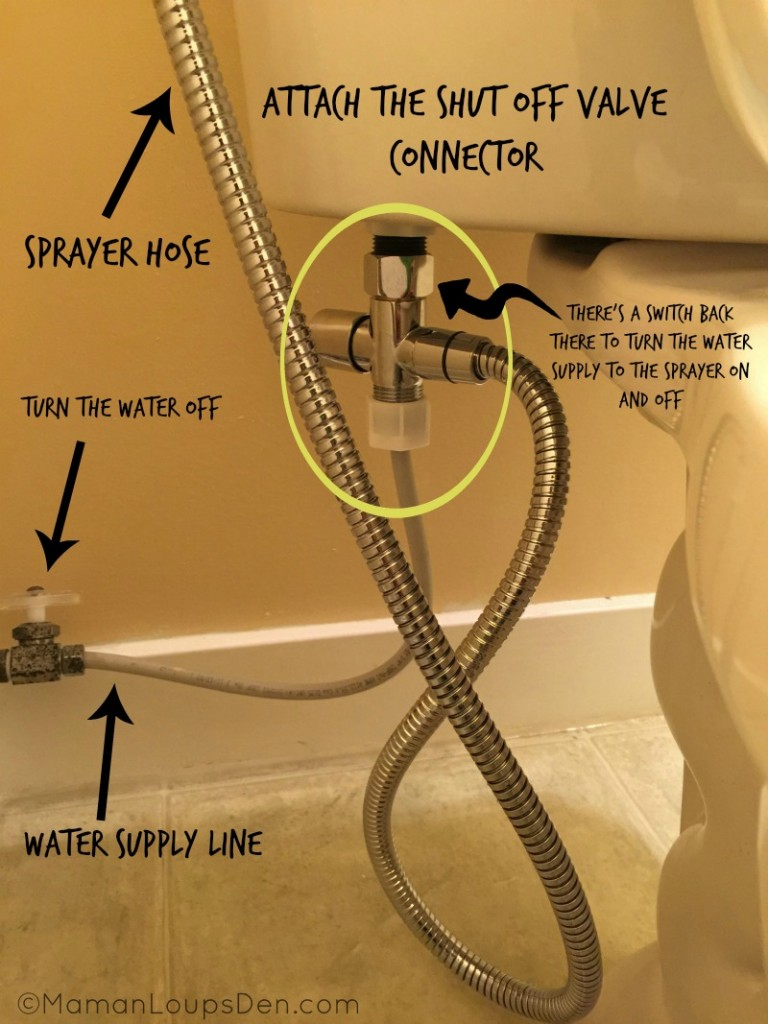 SprayPal connection under toilet