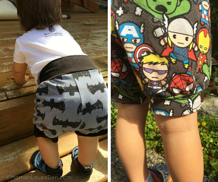 Side by Side in Eenvoudig Cuff Shorts baby and preschooler