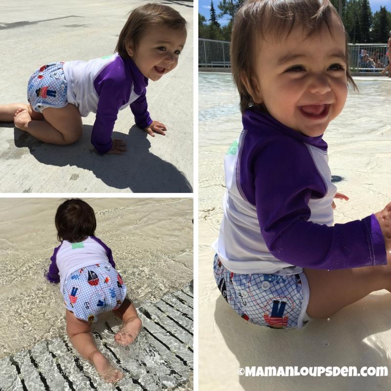 Omaiki Swim Diaper on Little Miss Cub
