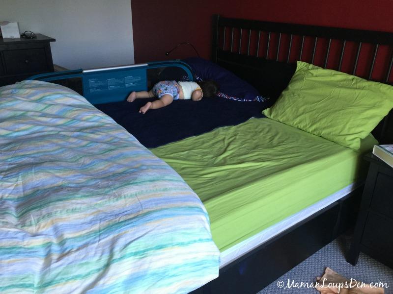 Peadpo mats on queen bed