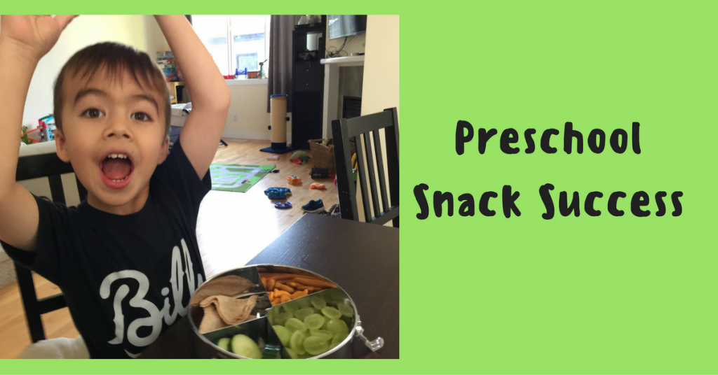 Preschool Snack Success thanks to Life Without Plastic