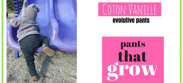 Coton Vanille Evolutive Pants Review {+ Giveaway}