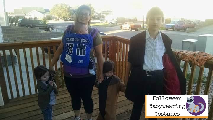 Halloween Babywearing Costume Idea: TARDIS and Dr. Who