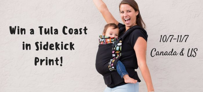 Tula Coast Sidekick Baby Carrier Giveaway {CA/US 10-7-11/7}