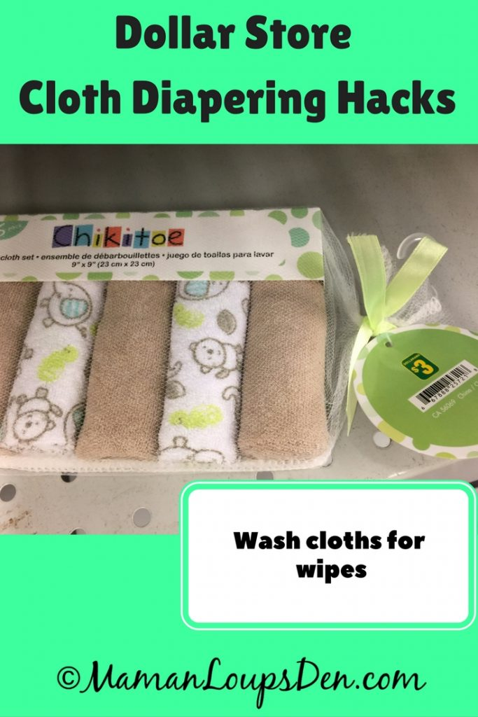 Dollar Store Cloth Diapering Hack: Face cloths as bum wipes