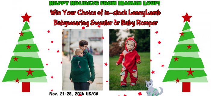 Check out My Holiday Gift Guides & Win a LennyLamb Babywearing Sweater or Baby Romper!