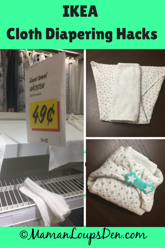 Ikea Cloth Diapering Hacks: Use items found at Ikea to save even more money cloth diapering! My favourite item? Ikea flats! (Himmelsk Burp Cloths)
