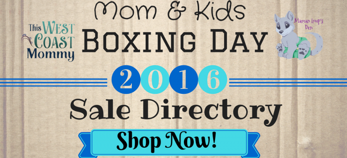 Mom & Kids 2016 Boxing Day Sale Directory