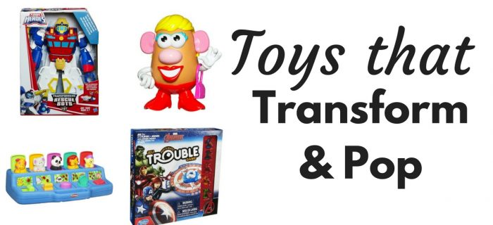 Hasbro Toys that Transform & Pop for Christmas {+ win Avengers in Trouble}