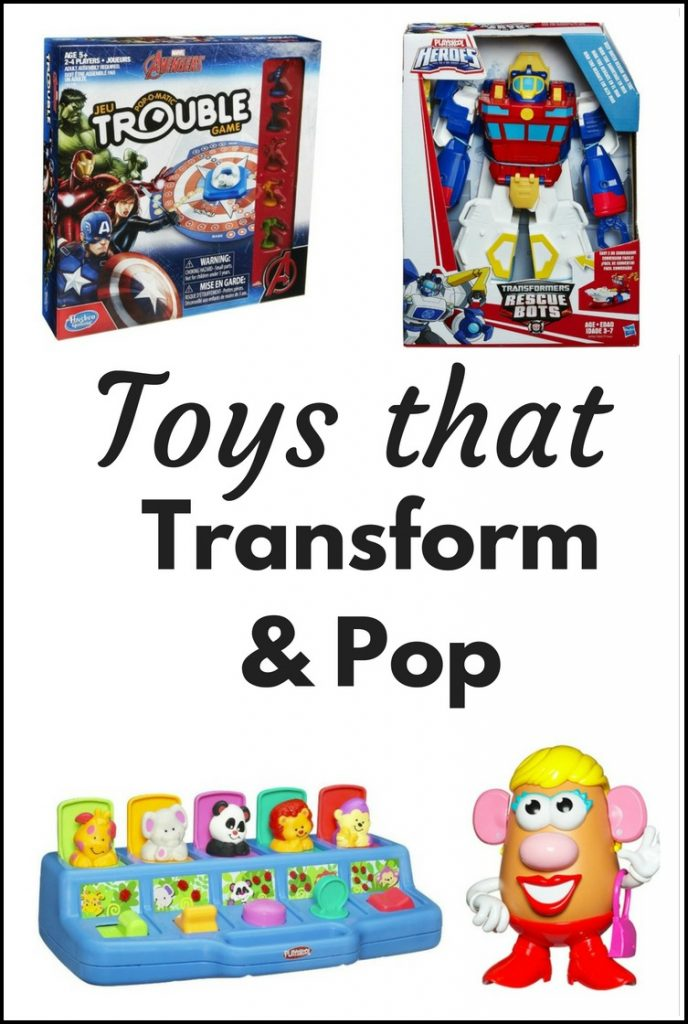 Holiday Gift Guide: Hasbro Toys that Transform and Pop