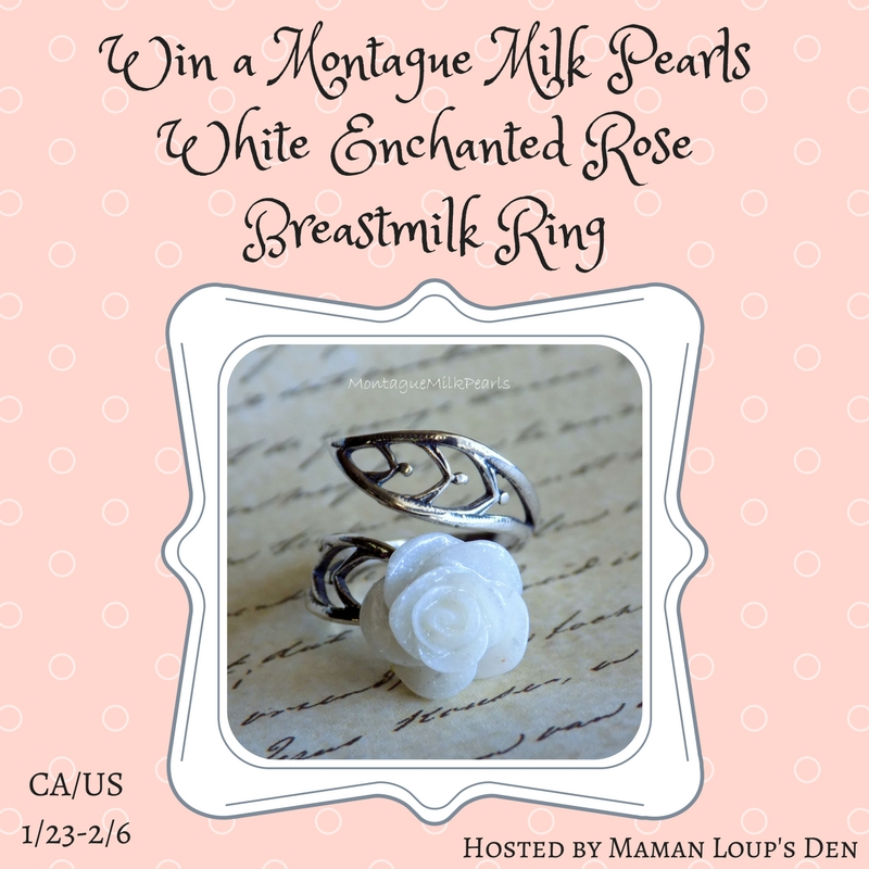 Win a White Enchanted Rose Breastmilk Ring
