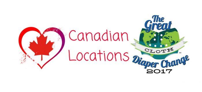 Canadian Great Cloth Diaper Change 2017 Locations