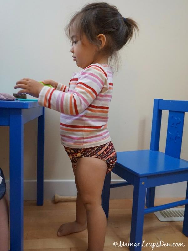 Girl Pees Her Diaper