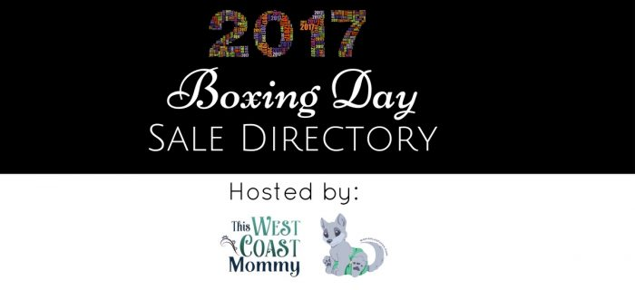 Boxing Day 2017 Sale Directory + AppleCheeks Giveaway