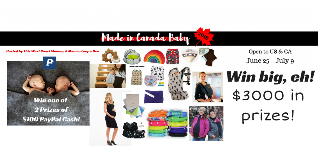 Made in Canada Baby 2018 – Over $3000 in prizes, open to CA & US