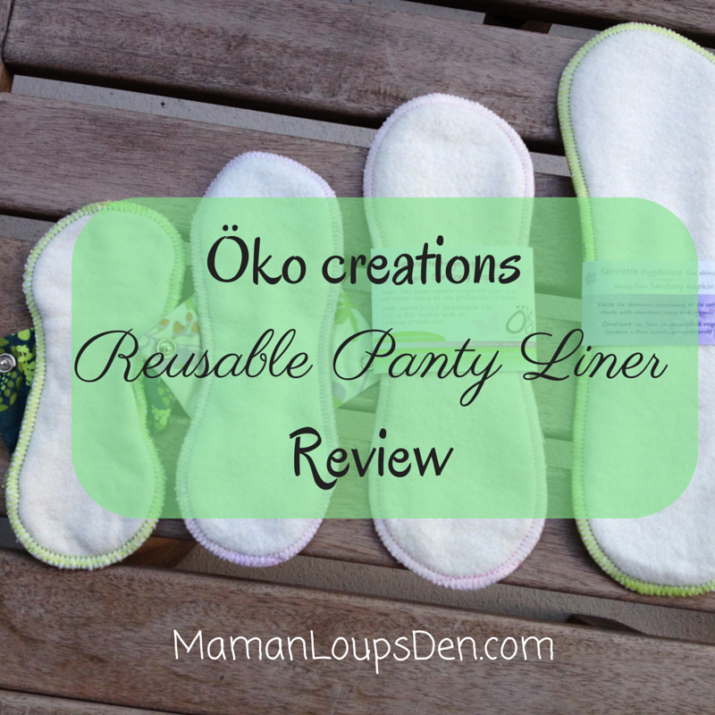 Öko creations reusable panty liner review