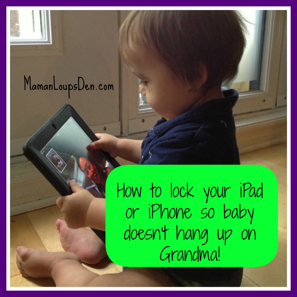 How to Lock Your iPhone or iPad ~ Maman Loup's Den