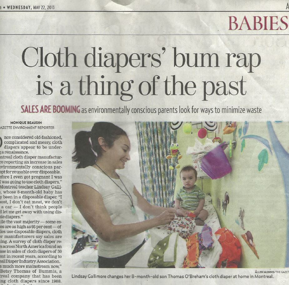 Towards a Cloth Diaper Subsidy for all Montréal Families