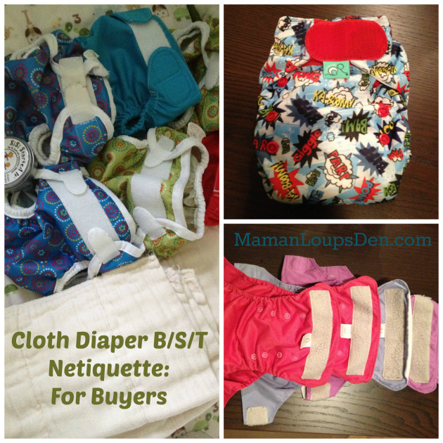 Cloth Diaper B/S/T Netiquette for Buyers ~ Maman Loup's Den