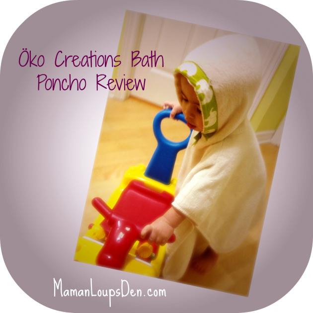 Oko Creations Bath Poncho Review ~ Maman Loup's Den