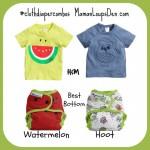 #ClothDiaperCombos Best Bottom Watermelon & Hoot