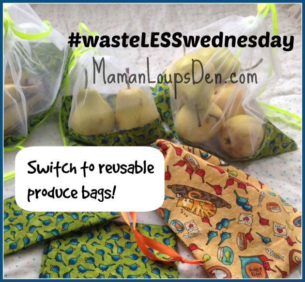 Switch to reusable produce bags to waste less plastic!