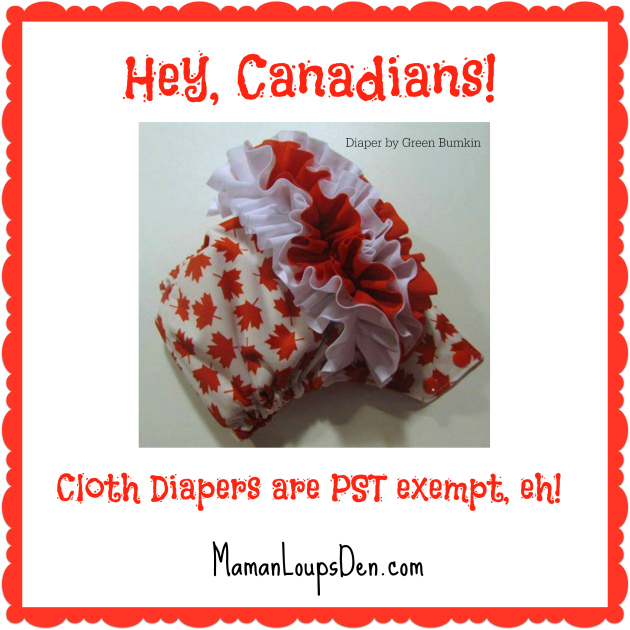 Cloth Diapers are PST Exempt