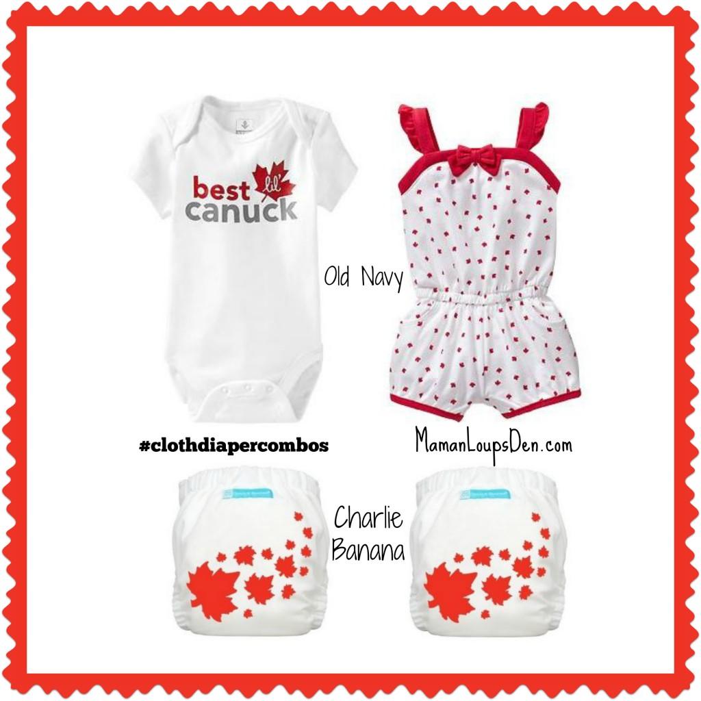 Charlie Banana Canada Day Cloth Diaper Combos ~ Maman Loup's Den